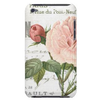 モダンなヴィンテージのフランス人のばら色の郵便はがき Case-Mate iPod TOUCH ケース