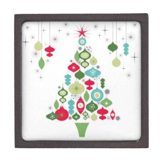 モダンなヴィンテージのレトロのクリスマスツリー ギフトボックス