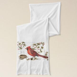 モダンなヴィンテージの冬の(鳥)ショウジョウコウカンチョウ スカーフ