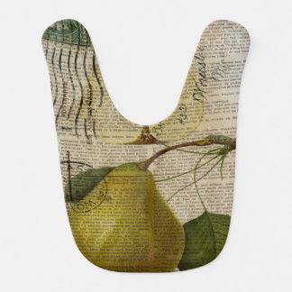 モダンなヴィンテージの植物のプリントのフルーツのナシ ベビービブ
