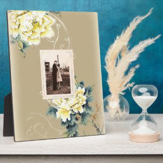 モダンなヴィンテージの花のシャクヤクの結婚式 フォトプラーク