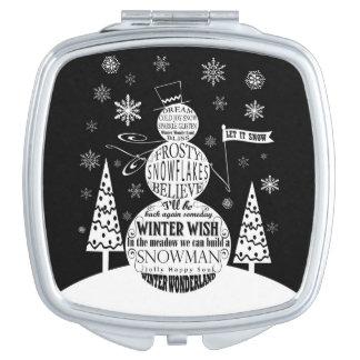 モダンなヴィンテージの黒板の雪だるまのタイポグラフィの芸術