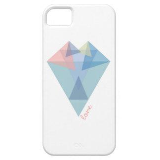 モダンな三角形のハート iPhone SE/5/5s ケース