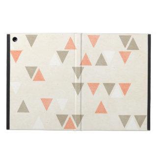 モダンな三角形の珊瑚及びベージュ灰色の抽象芸術の矢