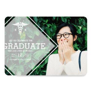 モダンな上敷| RNの卒業パーティーの写真 12.7 X 17.8 インビテーションカード