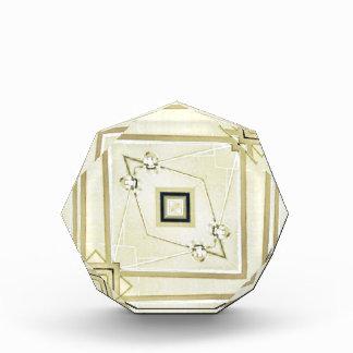 モダンな中立幾何学的な情報通のパターン 表彰盾