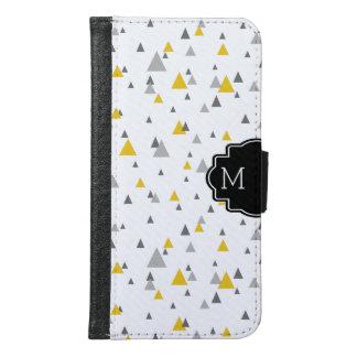 モダンな任意サイズ及び色の三角形パターン GALAXY S6 ウォレットケース