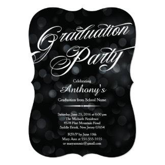 モダンな優雅のタイポグラフィの《写真》ぼけ味の卒業パーティー カード