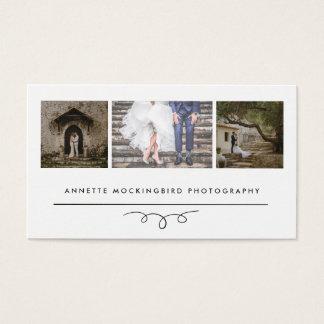 モダンな優雅|の写真撮影3つの写真 名刺