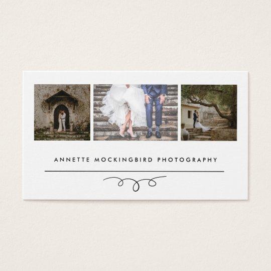 モダンな優雅 の写真撮影3つの写真 名刺