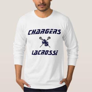 モダンな充電器のラクロスによって合われる長袖 Tシャツ