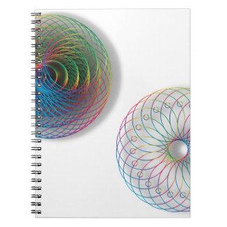 モダンな光学芸術の円 ノートブック