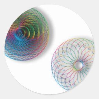 モダンな光学芸術の円 ラウンドシール