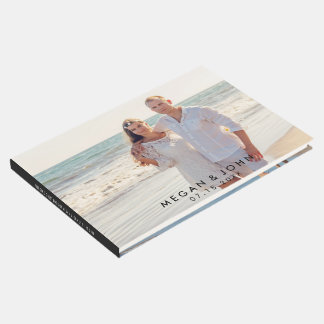 モダンな写真の結婚式 ゲストブック