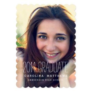 モダンな写真の高校卒業のパーティー 12.7 X 17.8 インビテーションカード