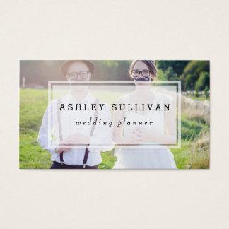 モダンな写真は|の結婚の名刺の上にありました 名刺