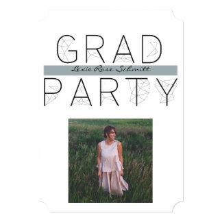 モダンな卒業生のパーティの招待5x7の招待状のチケット 12.7 x 17.8 インビテーションカード