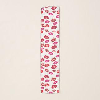 モダンな口紅の化粧パターン スカーフ