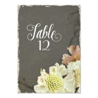 モダンな同世代の人によってはScabiosaの秋の結婚式が開花します 12.7 X 17.8 インビテーションカード