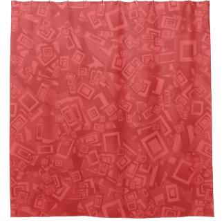 モダンな同世代の人の抽象芸術の赤パターン シャワーカーテン