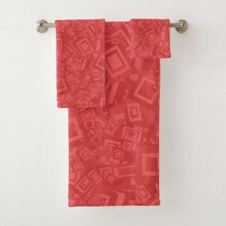 モダンな同世代の人の抽象芸術の赤パターン バスタオルセット