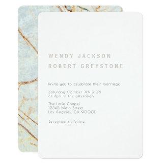モダンな地球の大理石の結婚式招待状 カード