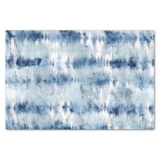 モダンな夏の濃紺の絞り染めの水彩画 薄葉紙
