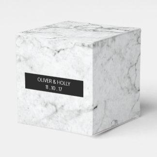 モダンな大理石の結婚式の引き出物箱 フェイバーボックス