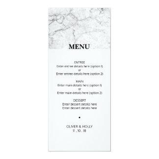 モダンな大理石の結婚式メニュー カード