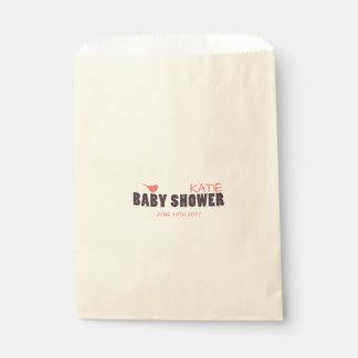 モダンな女の赤ちゃんのシャワーの好意のバッグ フェイバーバッグ
