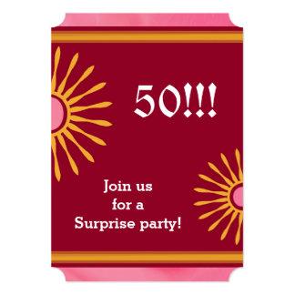モダンな女性の第50誕生会 カード