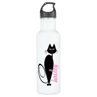 モダンな子猫の名前入りな自由のボトル ウォーターボトル