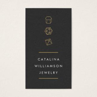 モダンな宝石用原石のトリオのロゴの縦のジュエリーのデザイン 名刺