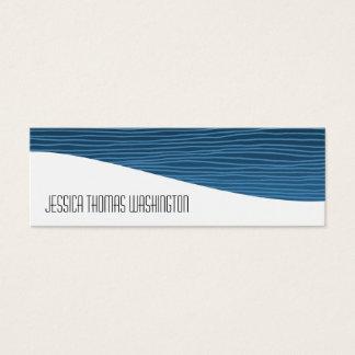 モダンな専門の青く細い名刺 スキニー名刺