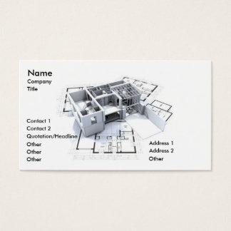 モダンな建築 名刺