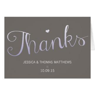 モダンな愛結婚式のコレクション-紫色 ノートカード