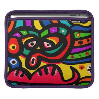 モダンな抽象美術の顔 iPadスリーブ