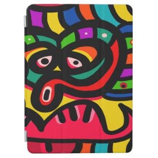モダンな抽象美術の顔 iPad AIR カバー