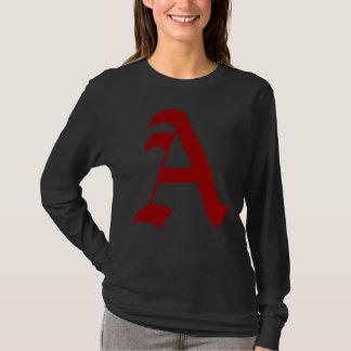 モダンな日の深紅手紙-無神論者のためのA Tシャツ