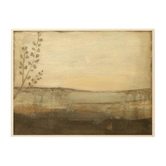 モダンな日没の景色の油絵 ウッドウォールアート