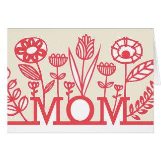 モダンな春の花の母の日カード カード
