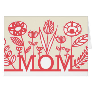 モダンな春の花の母の日カード グリーティングカード