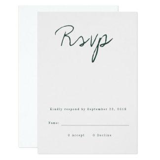 モダンな書道RSVPカード カード
