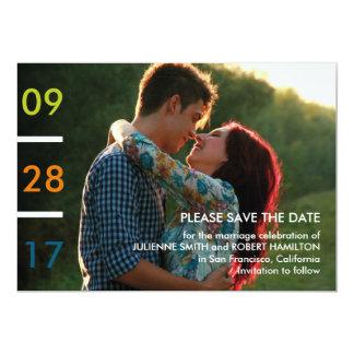 モダンな最小主義の写真の保存日付 12.7 X 17.8 インビテーションカード