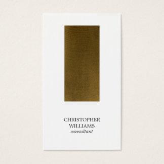 モダンな最小主義の銅のストライプのコンサルタント 名刺