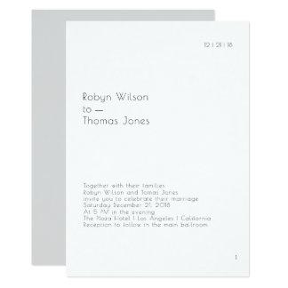 モダンな本のページの結婚式招待状5x7 カード
