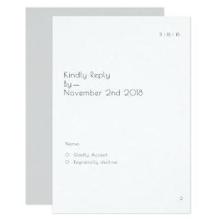 モダンな本のページRSVPカード カード