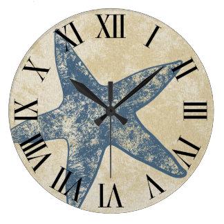 モダンな柱時計-ヒトデの時計 ラージ壁時計