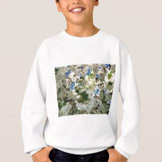 モダンな桜-青空の緑の葉 スウェットシャツ