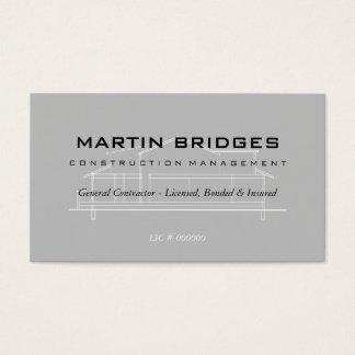 モダンな概要の建設業カード 名刺
